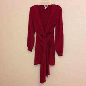 Dresses & Skirts - Burgundy Cutout Dress